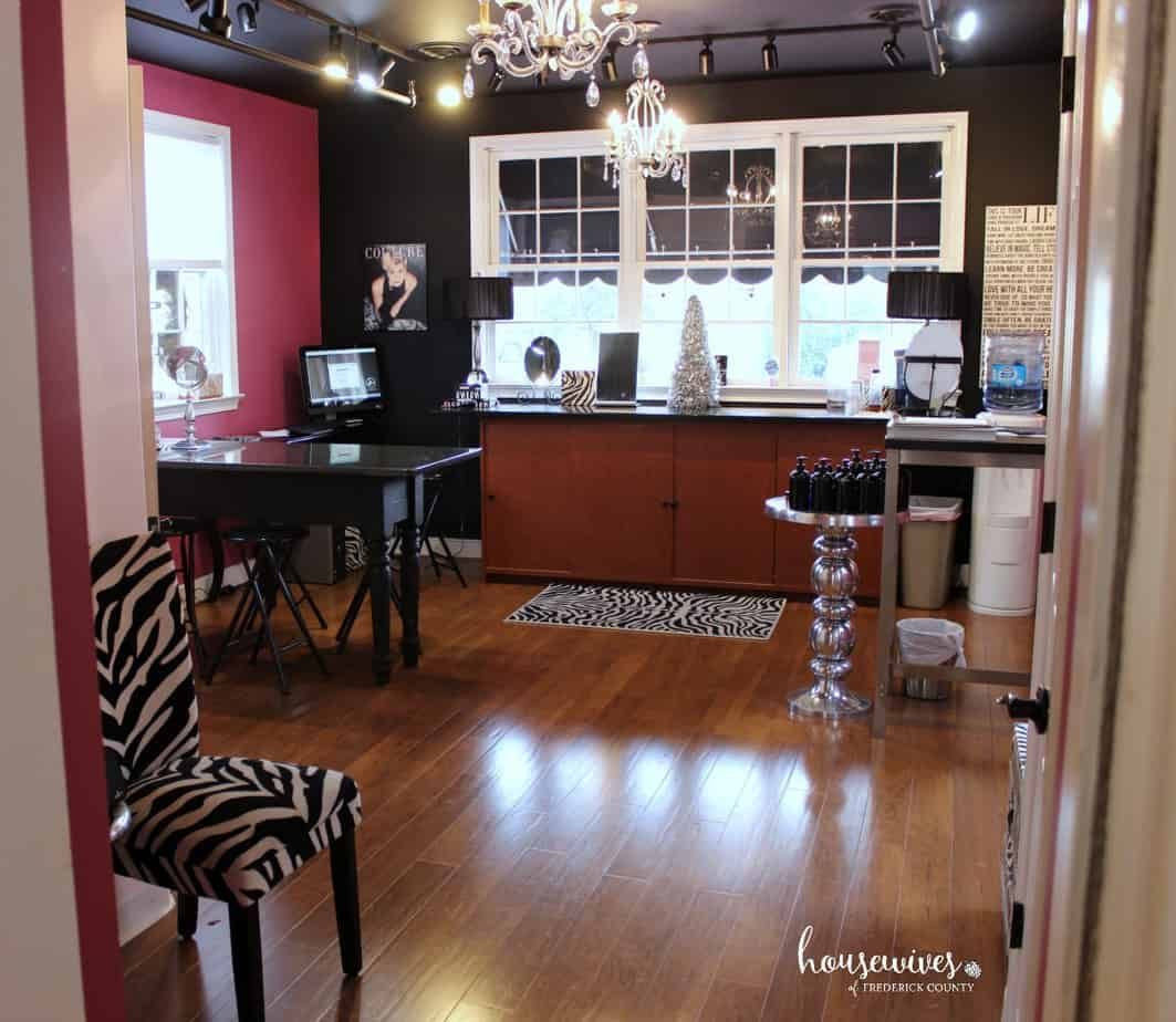 Smooch Studio Private Party Room for a foundation match and makeover