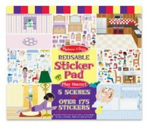 Melissa & Doug Playhouse! Reusable Sticker Pad