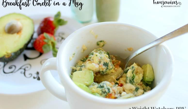 Breakfast Omelet in a Mug – 3 Weight Watchers PPV