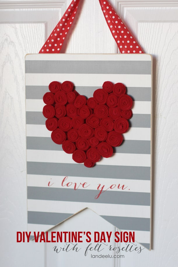 The 7 best diy home decor ideas for valentine 39 s day for Valentine decorations to make at home