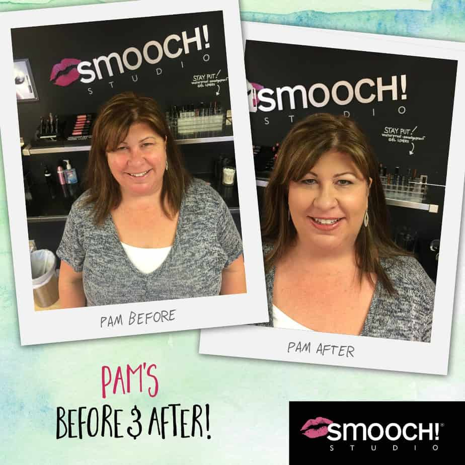 Pam's before and after