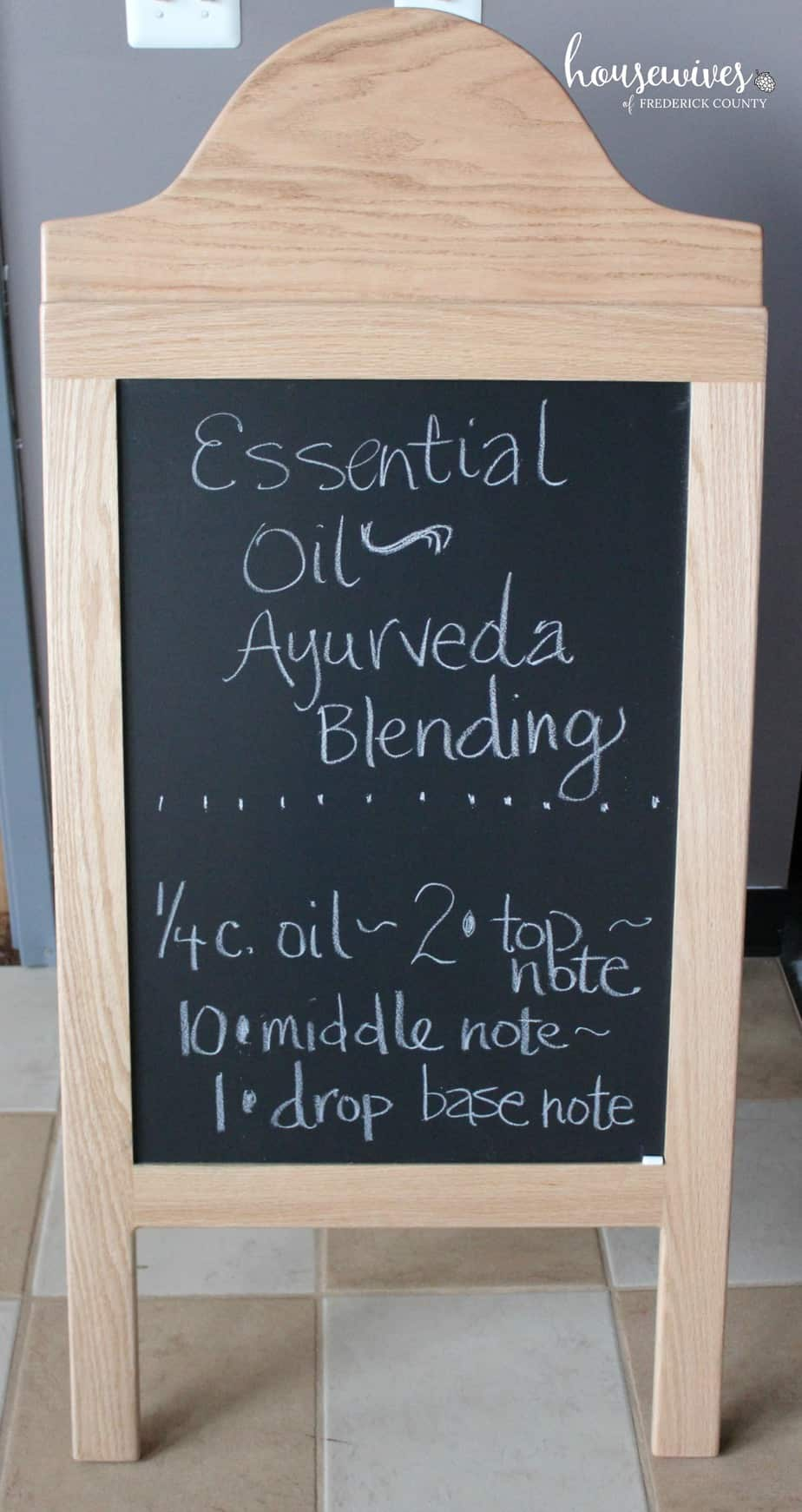 Blending essential oils for Abhyanga