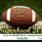 Super Bowl 2016: Free Football Party Competition Printable!