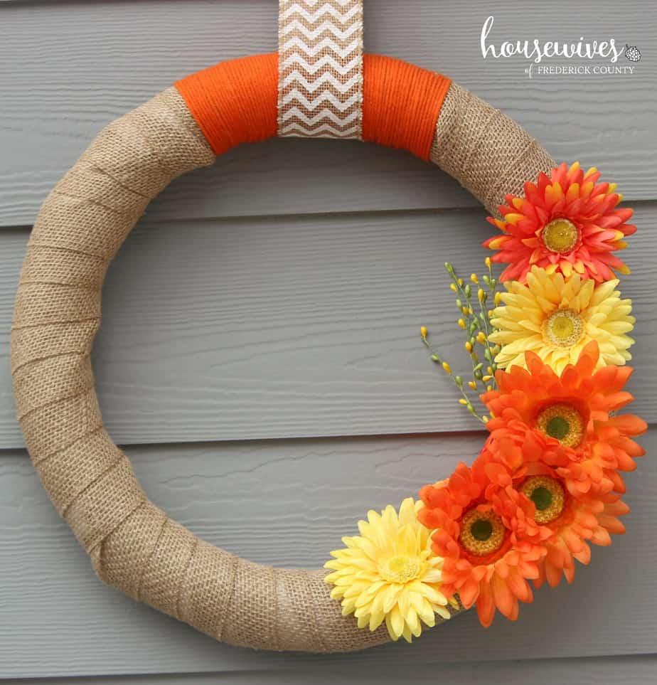 Beautiful DIY front door wreath