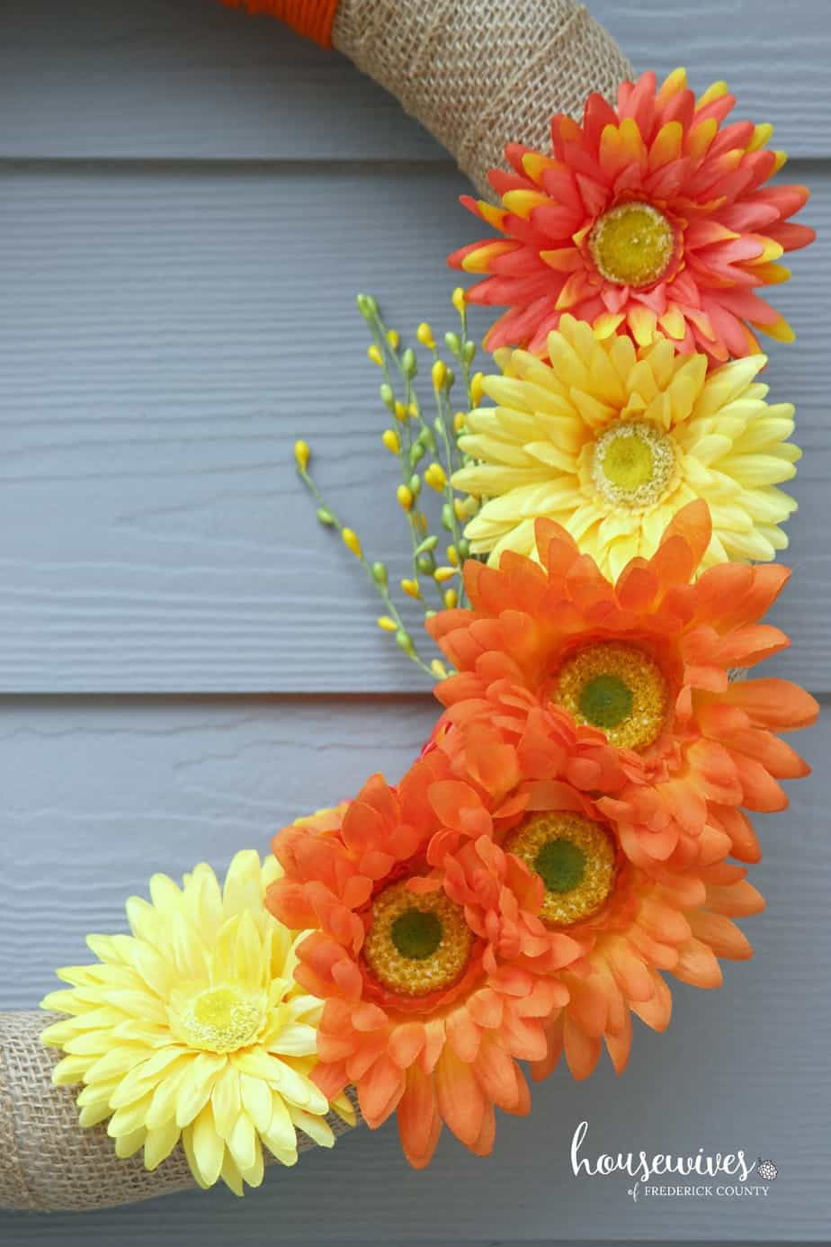 Orange & yellow flowers really pop for spring