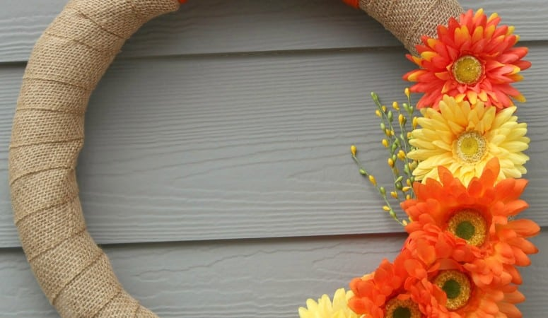 Simple Spring Wreath Tutorial