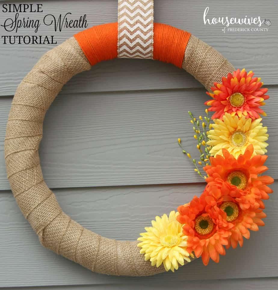 Step by step front door wreath tutorial