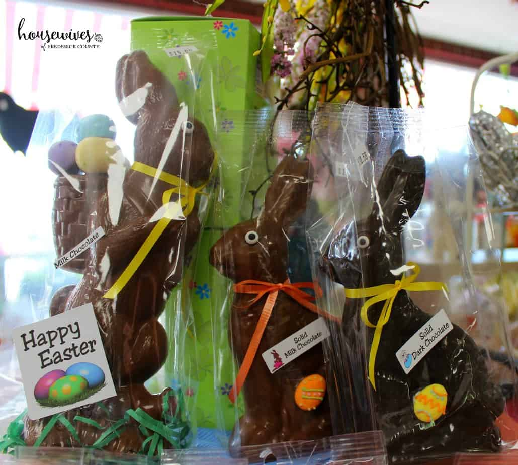 Chocolate bunnies in Frederick Md