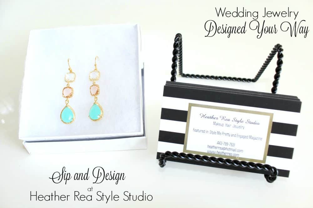 Wedding Jewelry Designed Your Way: Sip and Design at Heather Rea Style Studio