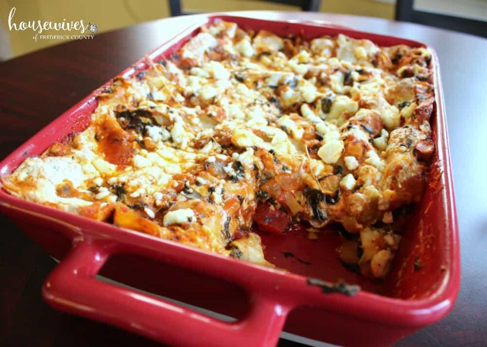 Simple No-Boil Lasagna Vegetarian Recipe with Spinach & Artichokes