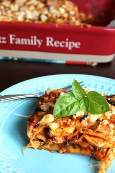Recipe for Vegetarian Lasagna