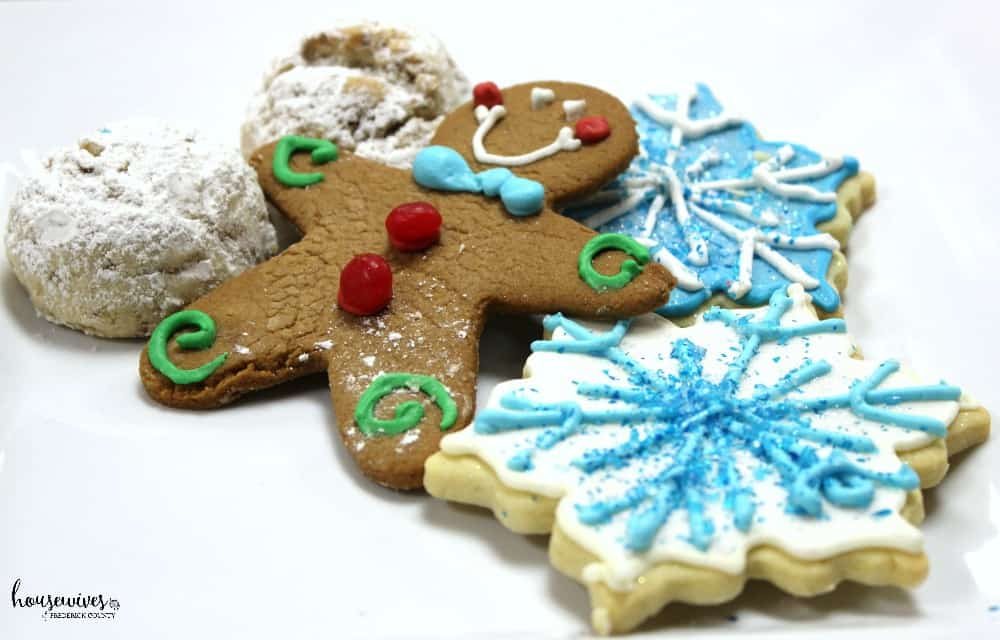 Freshly made Christmas cookies