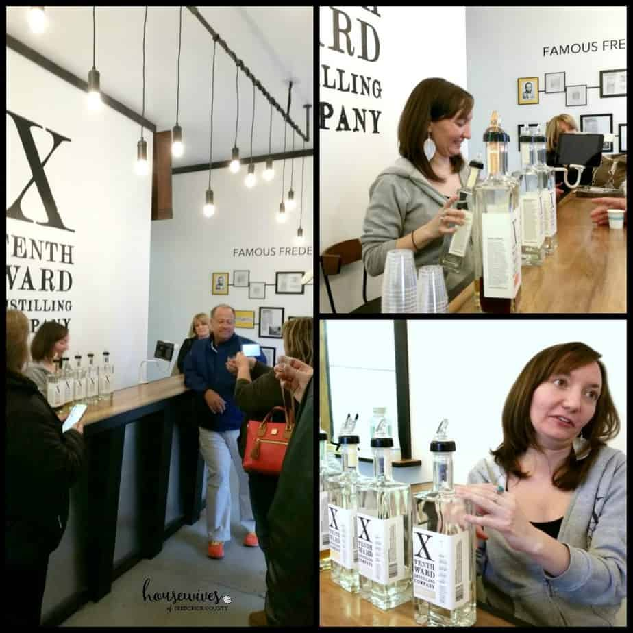 Tastings at Tenth Ward Distillery - One of the distilleries in Frederick Md