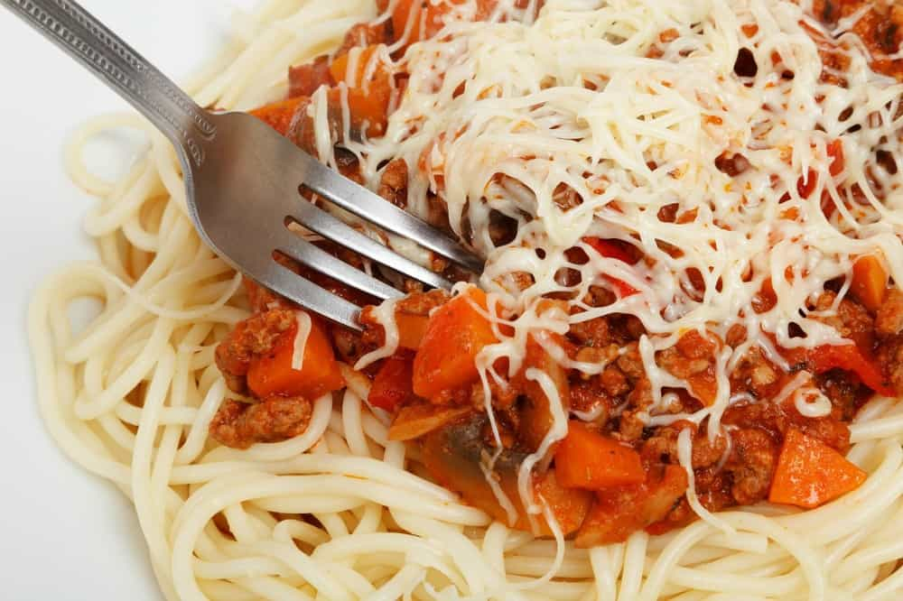 Spaghetti is quick & easy to make on sports nights