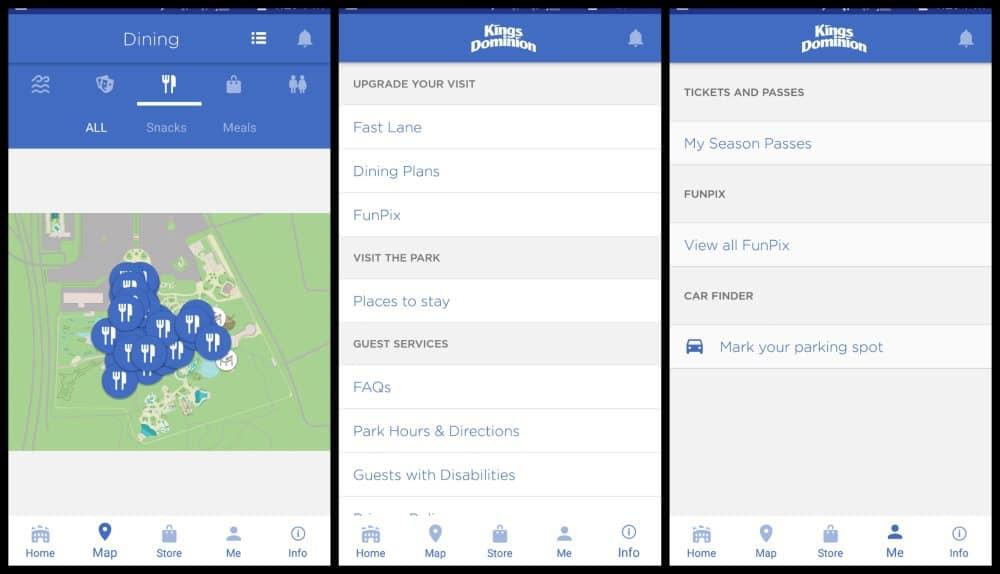 Kings Dominion Mobile App