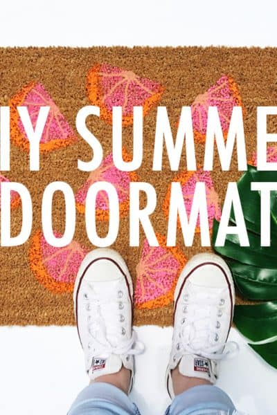 DIY Home Decor Project: Grapefruit Slice Summer Doormat
