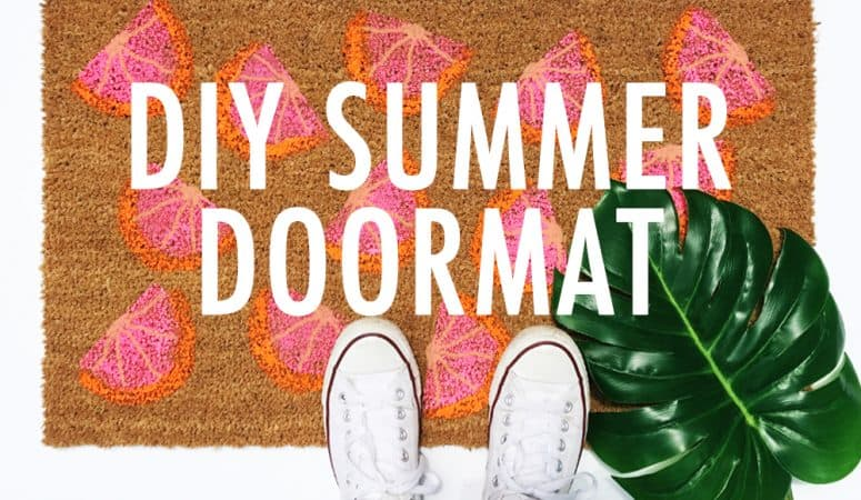 DIY Summer Doormat: Easy to Follow Tutorial