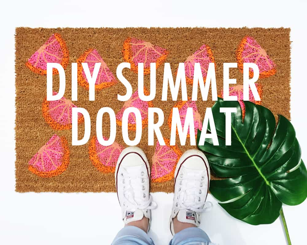 DIY Summer Doormat