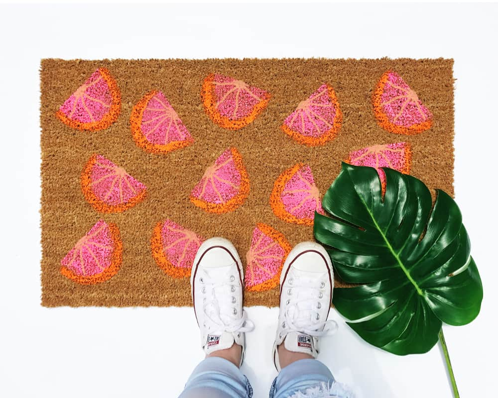DIY Home Decor Project Summer Doormat