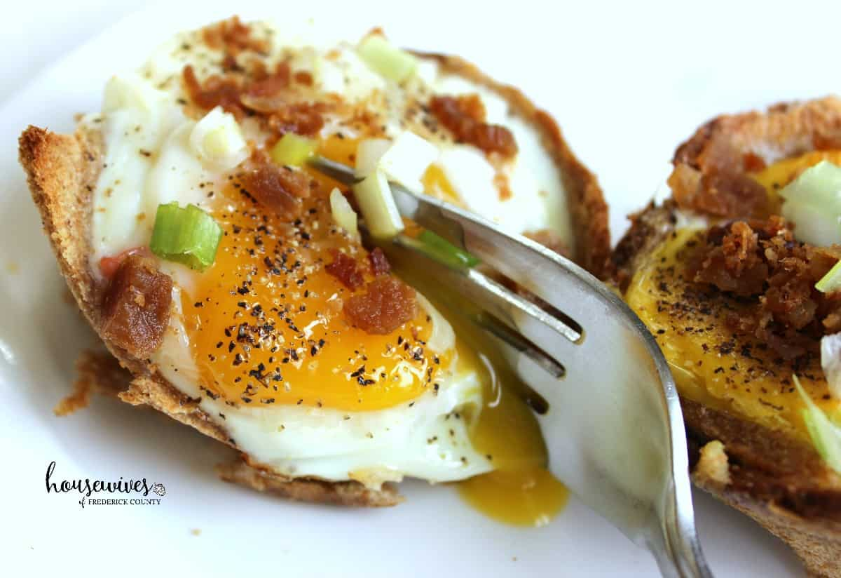 Healthy Egg Toast Cups
