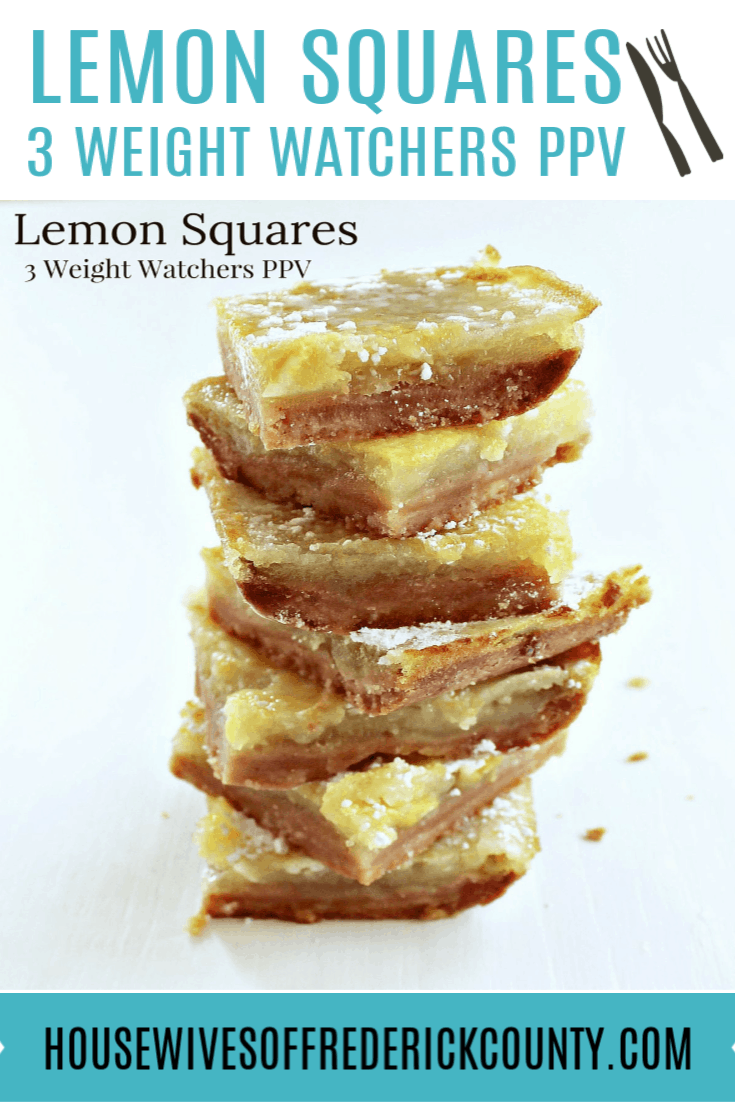 Lemon Squares - 3 Weight Watchers PPV