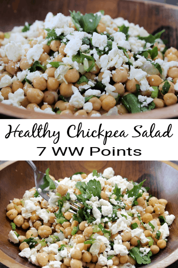 Healthy Chickpea Salad: 7 Weight Watchers SmartPoints
