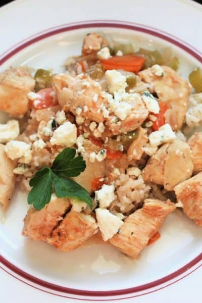 Slow Cooker Buffalo Chicken & Rice: 10 WW Points