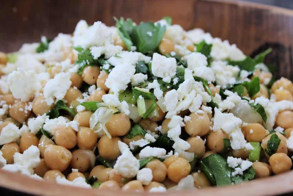 Chickpeas and feta are the perfect combination
