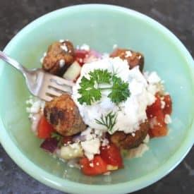 Easy Greek Tzatziki Recipe with Meatballs & Couscous