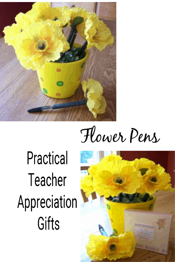 Flower Pens: Practical Teacher Appreciation Gifts