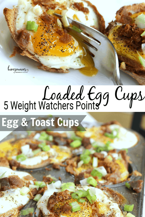 Loaded Egg Cups - 5 Weight Watchers SmartPoints