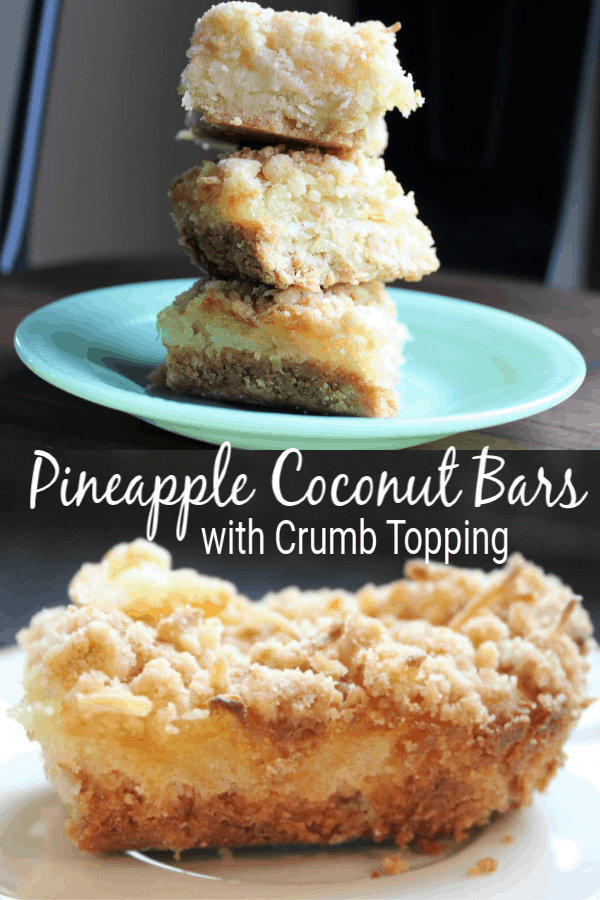 Pineapple Coconut Bars with Crumb Topping