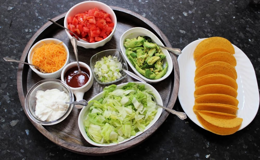 Displaying your taco toppings