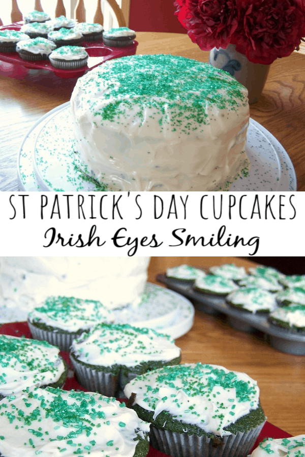 St Patrick's Day Cupcakes - Irish Eyes Smiling