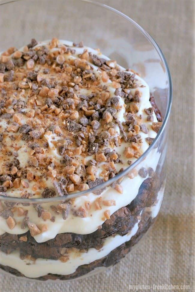 Gluten Free Heath Brownie Trifle - Christmas Dessert Recipes