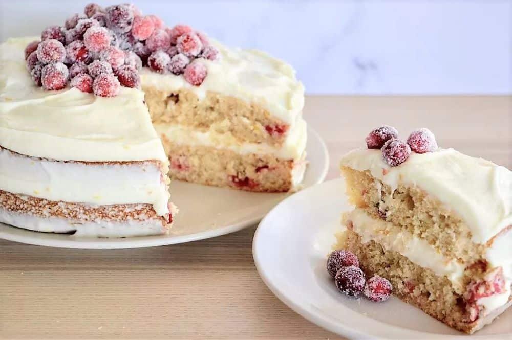 Cranberry Orange Spice Cake - Christmas Dessert Recipes