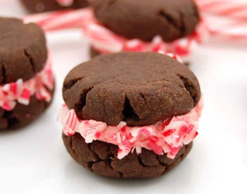 Stuffed Chocolate Peppermint Cookies