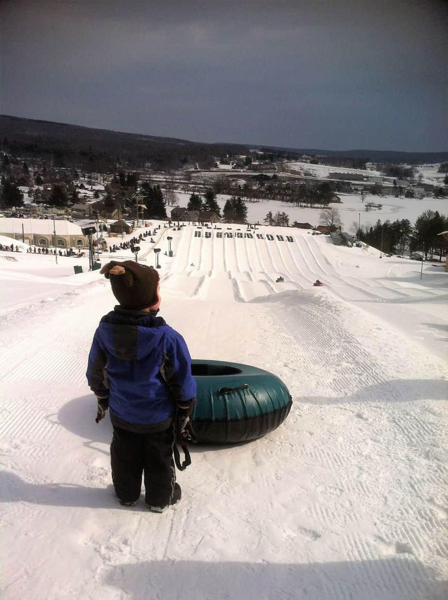 Wisp Ski Resort Tubing Hills