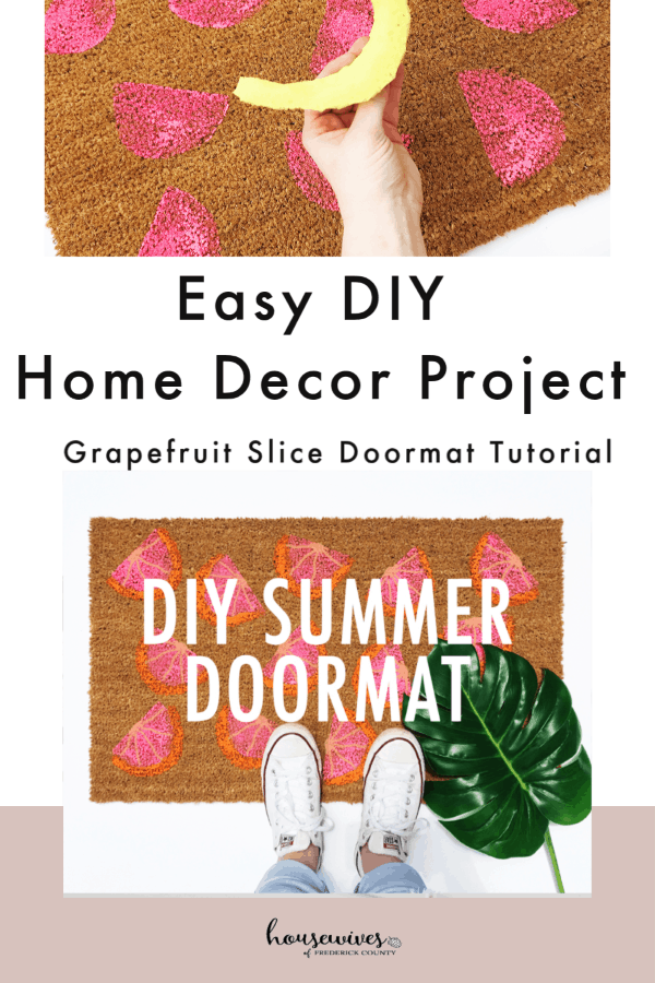 Easy DIY Home Decor Project: Grapefruit Slice Doormat Tutorial
