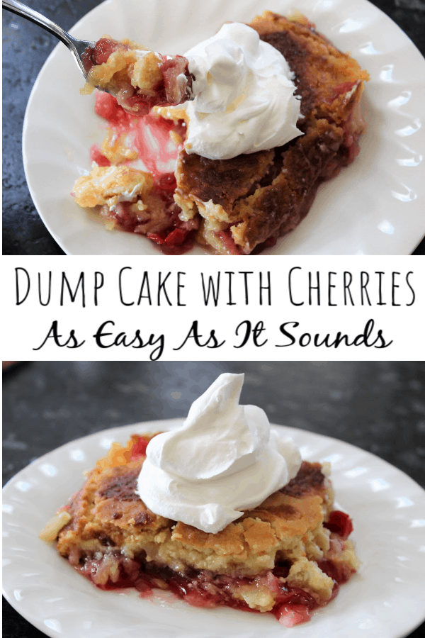 Dump Cake with Cherries: As Easy As It Sounds