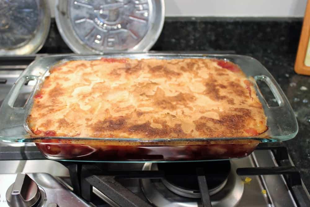 cherry pineapple dump cake Out of the Oven