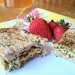 Pesto Mozarella Pine Nut Panini Sandwich