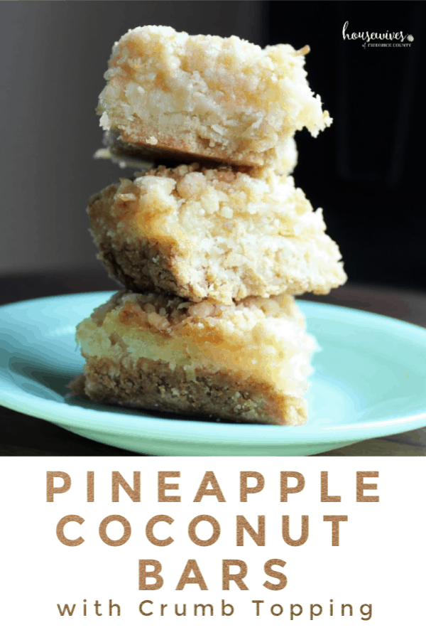 Pineapple Coconut Cake Bars with Crumb Topping