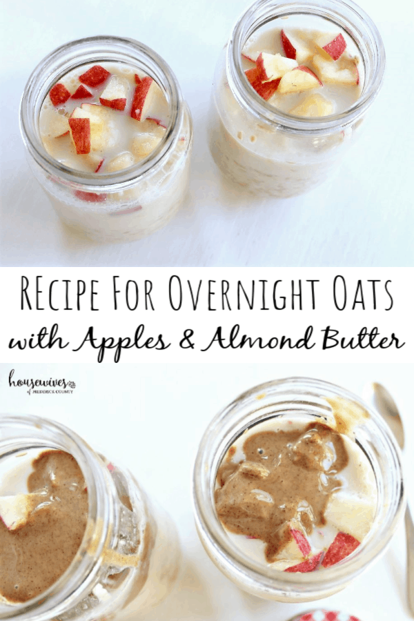 Recipe for Overnight Oats with Apples & Almond Butter