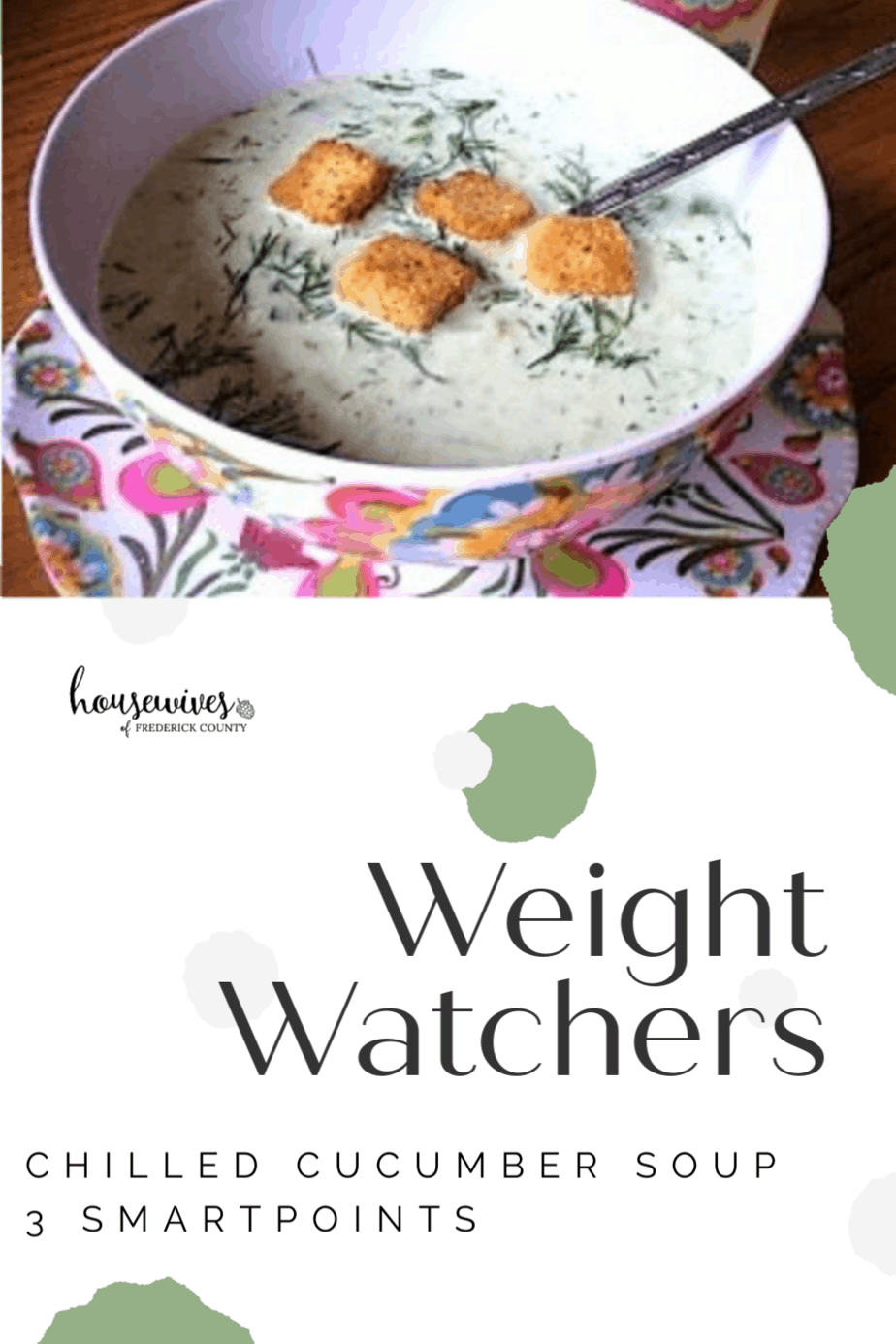 Chilled Cucumber Soup - 3 Weight Watchers SmartPoints
