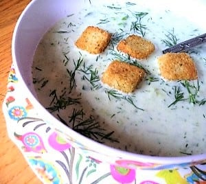 Cold Cucumber Soup Weight Watchers Friendly