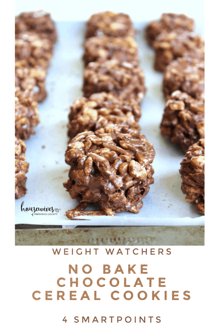 Weight Watchers No Bake Chocolate Cereal Cookies - 4 SmartPoints