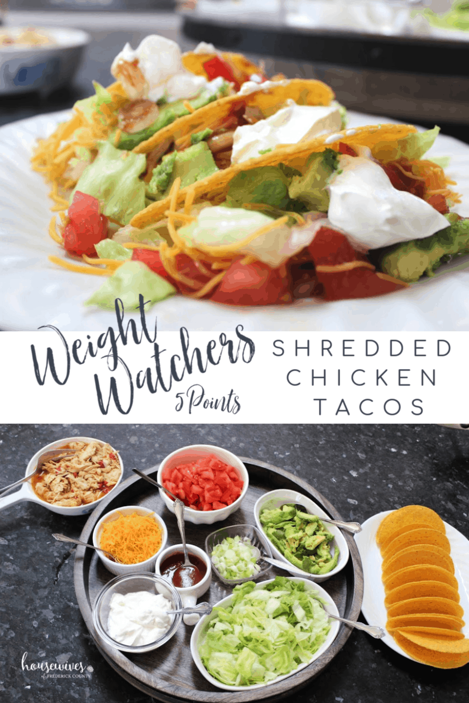 Weight Watchers Shredded Chicken Tacos: 5 SmartPoints