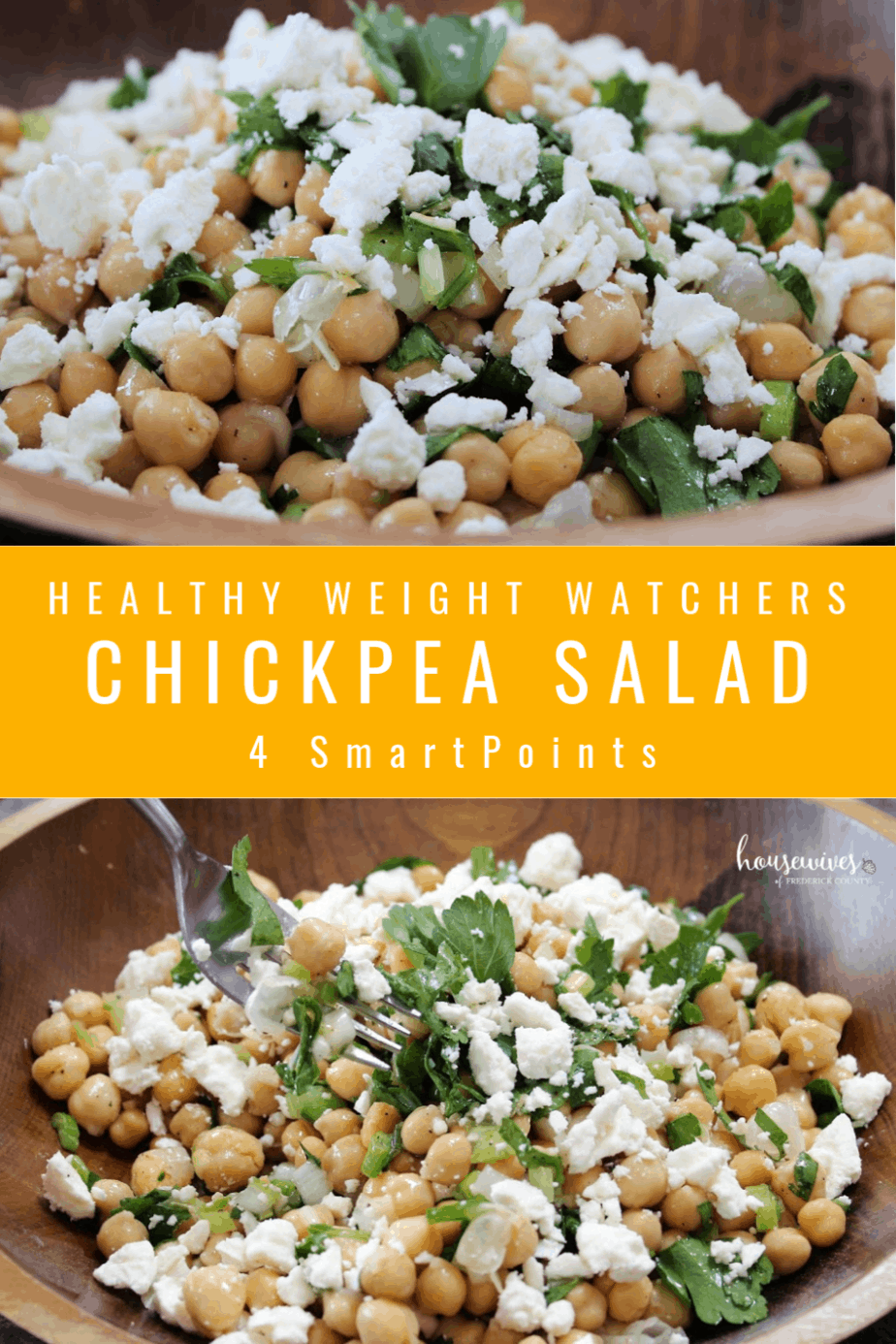 Healthy Chickpea Salad: 4 Weight Watchers SmartPoints