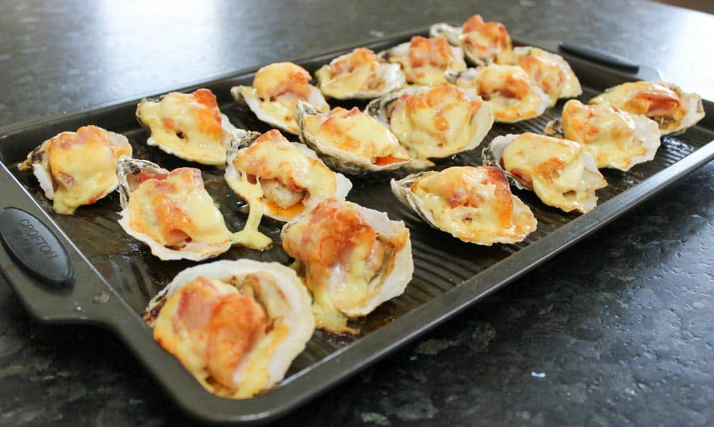 Spicy Oysters with Bacon and Cheese Recipe